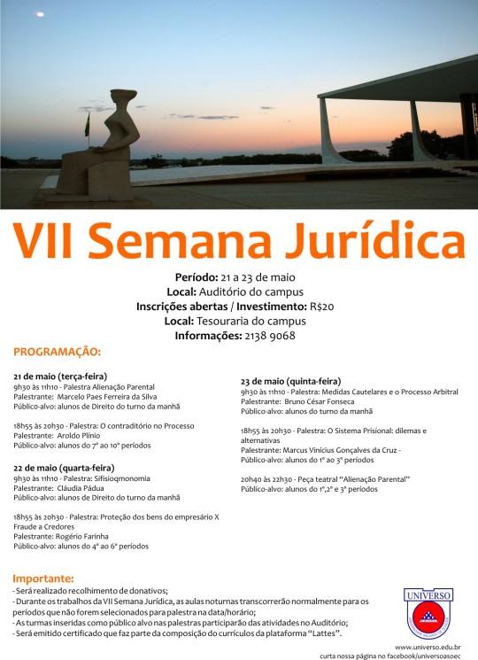 VII semana juridica