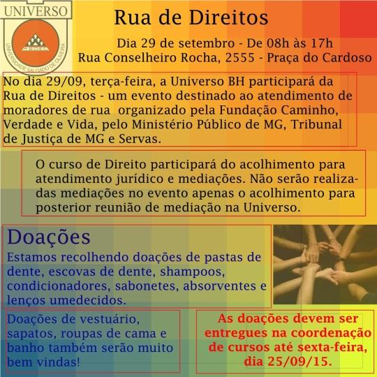 Rua de Direitos - Universo - Folder - pq