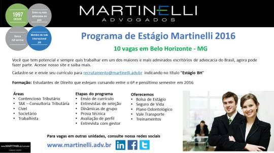 Programa de Estágio Martinelli BH 2016