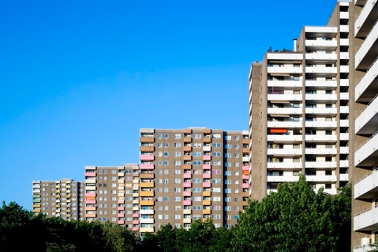 Typical german suburb flats