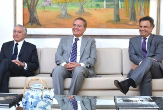 Michel, Renan e Aécio
